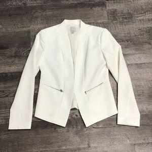 Halogen open front white blazer small
